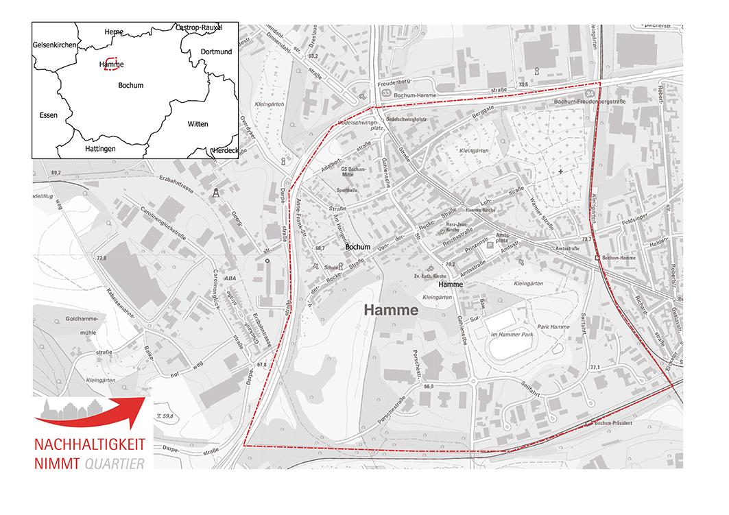 Bochum Karte.Bochum Hamme Nachhaltigkeit Nimmt Quartier